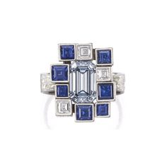 DECEMBER 09: GRIMA RING FETCHES RECORD PRICE AT BONHAMS LONDON SALE The step-cut diamond, set in an architectural mount achieved £1.48 million against its pre-sale estimate of £500,000-700,000.