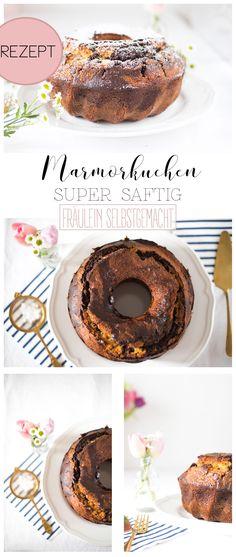 Saftiger Marmorkuchen als Gugelhupf gebacken Juicy marble cake baked as a ring cake Mug Recipes, Donut Recipes, Healthy Dessert Recipes, Keto Snacks, Baby Food Recipes, Keto Recipes, Healthy Snacks, Cake Recipes, Desserts