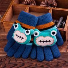 Children's Knitted Five Finger Gloves Kids Warm Gloves, View Kids Warm Gloves…