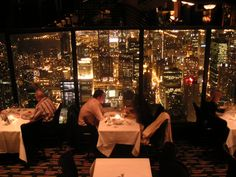 Hancock Tower restaurant, Chicago, IL ... Paul took me to the 95th floor restaurant back when we were dating!