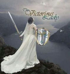 Victorious lady, Bride of Christ warrior. Prophetic art.