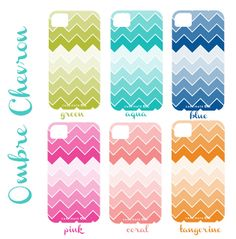 Shorely Chic: Ombre Chevon iPhone Covers