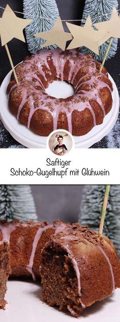 Der zergeht förmlich im Mund, und das Aroma vom Glühwein harmoniert wunderbar mit der Schokolade im Teig! Das Rezept ist gut geeignet für Anfänger: schnell in der Zubereitung und noch schneller ist er verputzt #Glühweinkuchen #gugelhupfrezept #gugelhupf #weihnachtsrezept Fondue, Chocolate Brownie Cookies, Sweet Bakery, Chef Recipes, Easy Peasy, Doughnut, All You Need Is, Sweet Tooth, Good Food