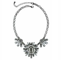 MIXIT MixitTM Dark Gray Sunburst Statement Necklace