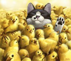0_o - cats Fan Art