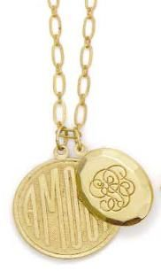 Locket + medallion necklace