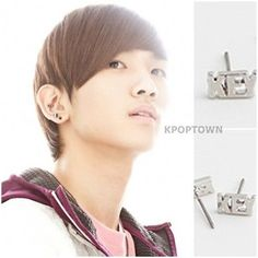 SH22-SHINEE-KEY-Sty-Key-Point-One-Single-Earring. Okay I bought this single earring the total cost was $6.00. However the other SHINee stuff I purchased all at once began to add up. Aish! I must curb my enthusiasm after all music is my kryptonite! I have a long history of fanatical shopping behavior. Not only will I buy up all their best albums but, I'll get the T-shirt, doll's, poster and DVD's. My artwork even reflect's my favorite artist at the moment. A fangirl at heart.