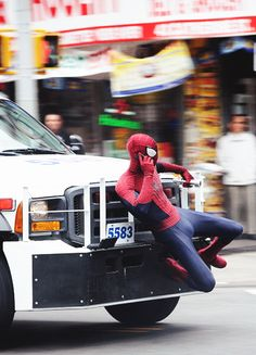 Sorry Aunt May, can't talk...gotta catch some villains. The Amazing Spider-Man II