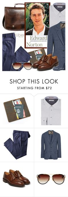 """Edward Norton"" by goreti ❤ liked on Polyvore featuring Ted Baker, Brunello Cucinelli, George Cleverley, Dita, men's fashion, menswear, CelebrityStyle and polyvoreeditorial"