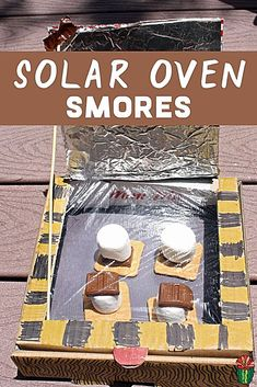 Try this easy DIY Solar Oven for kids this summer. Learn how to make a solar oven with these plans, perfect for summer fun or a science project. Start with a cardboard pizza box (or shoebox) and you are on your way to a simple experiment that combines STE Kid Science, Summer Science, Science Projects For Kids, Preschool Science, Physical Science, Project For Kids, Environmental Science Projects, Science Chemistry, Science Classroom