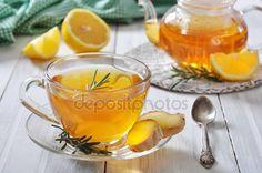 Скачать - Имбирный чай с лимоном — стоковое изображение #33821879