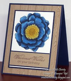 Create With Christy: Sale-A-Bration & Occasions Catalog Starts Today & Blended Blooms Birthday Card