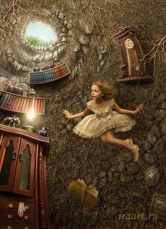 Le jour où Alice est entrée dans la maison de mon ancêtre - brillamment imaginé par Irina Mikhailova