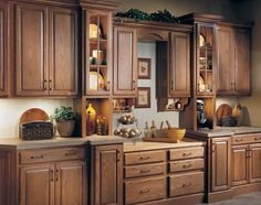 Cutting Board Station, And Appliance Barn. Heritage2 Red Oak Royal    QualityCabinets. Kitchen