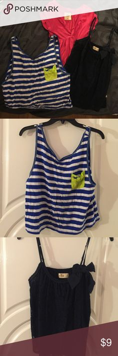 Hollister shirts All size Medium worn acouple times but in great condition Hollister Tops Tank Tops