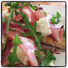 Bruschetta with mortadella and taleggio Bruschetta, June, Eggs, Breakfast, Food, Meal, Egg, Essen, Egg As Food