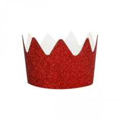 Red Glitter Party Crowns By My Little Day