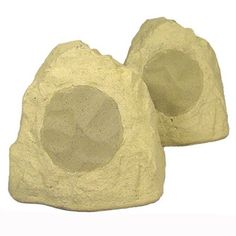 "New 6.5"" Woofers Outdoor Garden Waterproof Sandstone Rock Patio Speaker Pair 2R6B by Theater Solutions. $79.99. SpecificationsNew Pair of Weatherproof Outdoor Rock Speakers200 Watts RMS & 400 Watts Max per SpeakerSensitivity is 96db with 60-20,000 Hz Frequency ResponseWoofers are 6.5"" Poly Mica 8ohm Drivers with Sealed Voice Coils and Butyl Rubber Surrounds1"" Ferro Fluid Cooled Soft Dome TweetersSilicone Encased LeadsSilicone Sealed, Multi-layer Composite CabinetsRust Resistant ..."