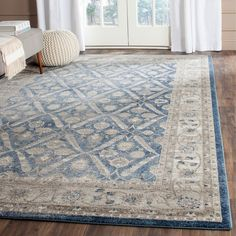 Safavieh Sofia Shag Blue/ Beige Rug (8' x 11') - Overstock Shopping - Great Deals on Safavieh 7x9 - 10x14 Rugs