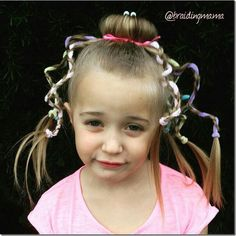Octopus hairstyle - so adorable! For Halloween or crazy hair day, this would be so fun! Creative Hairstyles, Cute Hairstyles, Halloween Hairstyles, Sea Hair, Crazy Hair Days, Christian Wife, Homemade Costumes, Your Girl, Braids