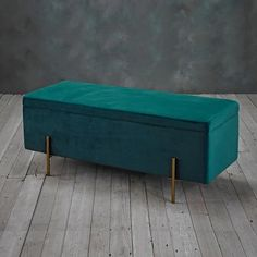 Colangelo Upholstered Storage Bench Fairmont Park Upholstery Colour: Teal - Teal - Size: H X W X D Ottoman Stool, Upholstered Storage Bench, Ottoman Storage, Teal Furniture, Online Furniture, Fairmont Park, Storage Spaces, Home Accessories, Upholstery
