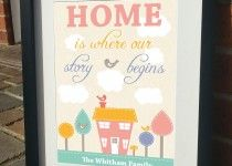 home is where our story begins Print by JensLittleT & JLWIllustration