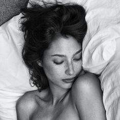 Black and White Photography Portrait of Alexandra Agoston
