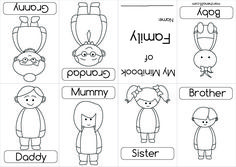 cut and paste kids family worksheets  members stick family and  &