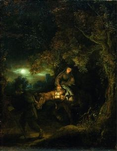 The Flight into Egypt, Rembrandt Harmenszoon van Rijn (1634). Private collection.