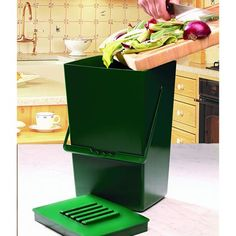 kitchen compost caddy under sink compost system with storage for compost bags see more from etsy 9l odourfree compost caddy 999
