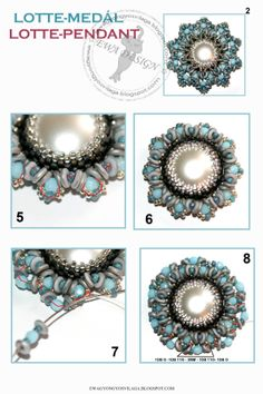 flot vedhæng med stor perle i midten Free Beading Tutorials, Beading Patterns Free, Seed Bead Patterns, Jewelry Making Tutorials, Jewelry Making Beads, Free Pattern, O Beads, Beaded Jewelry Designs, Bead Jewellery