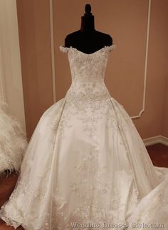 Eve of Milady Fall 2011 Wedding Dress Collection: Rococo Sleeping Beauty.... I love the off the shoulder straps