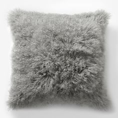 Set of 2 West Elm Mongolian Lamb Fur Pillows in Platinum for sale in great condition! cotton backing. Each lamb fur is unique; Size: square *comes with insert! Fur Pillow, Bed Pillows, Bed Linens, Pillow Set, Tahari Bedding, West Elm Bedding, Platinum Grey, Textiles, Modern Pillows
