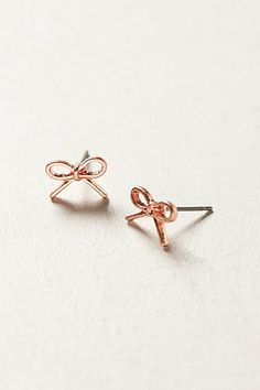 Rose bow swoop earrings