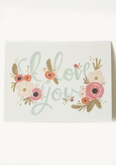 'i love you' card | by rifle paper co.