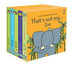That's Not My Zoo Box Set - Usborne Books & More This fabulous touchy-feely library contains five of our best-selling zoo animal titles - Lion, Meerkat, Panda, Monkey and Elephant, and comes in a sturdy keepsake library box. Makes a wonderful gift! Gifts For Readers, Gifts For Kids, Toddler Books, Childrens Books, Toddler Activities, Fun Activities, Great Books, My Books, Zoo Book