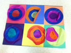 3 Art Lessons for Preschoolers: Picasso, Kandinsky, Mondrian Good kindergarten project to start