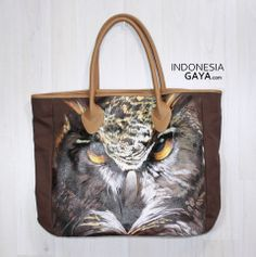 Hand Painted of OWL Tote Bag