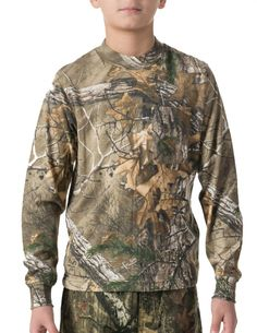New Realtree Youth Hunting Apparel in 2016 | Walls Youth Hunting Packet Long Sleeve Tee