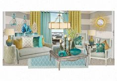 turquoise love allie phillips Basement Colors, Outdoor Furniture Sets, Outdoor Decor, Create Your Own, Design Inspiration, Style Watch, Turquoise, Decorating, Interior Design