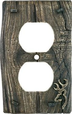 like the wood look  Browning® Duplex Outlet Receptacle Plate Cover, Drawer Pulls & Switch Plates, Home & Cabin Decor, Home & Cabin : Cabela's