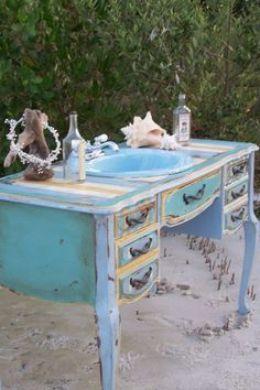 Blue Bathroom Sink