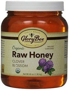 GloryBee Organic Raw Clover Honey, 48 Ounce - http://goodvibeorganics.com/glorybee-organic-raw-clover-honey-48-ounce/