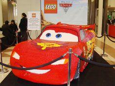 Lightning McQueen Life Size LEGO Sculpture 2 | Flickr - Photo Sharing!