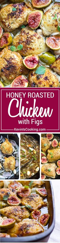 This Honey Roasted Figs and Chicken has onions, shallots and figs roasted in a…
