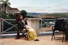 Moça lendo em Itu, sd    José Ferraz de Almeida Júnior ( Brasil 1850-1899)    óleo sobre tela