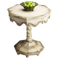 Artist's End Table in Alabaster. Love this table.