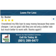 I transfered my title loan to easy money because they were cheaper. I am so glad I did...