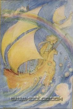 Florence Harrison, «Elfin Song: A Book of Verse and Pictures», London, Glasgow & Bombay, Blackie & Son, 1912.  fharrison-elfin05