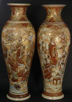 Japanese Imari Porcelain Vases.